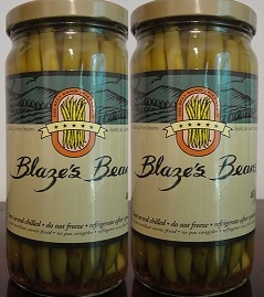 Blaze´s Beans Spicy Pickled Green Beans Box (2 Jar) 16 oz each